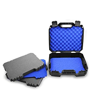 CASEMATIX Customizable Two Way Radio Set Case Fits Up to 16 Walkie Talkies, Chargers, and UHF FRS Accessories - Compatible with Arcshell, Baofeng, Midland, Motorola Talkabout, Retevis, Uniden
