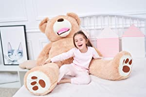 IKASA Giant Teddy Bear Plush Toy Stuffed Animals (Brown, 63 inches) (Color: Brown, Tamaño: 63 inches)