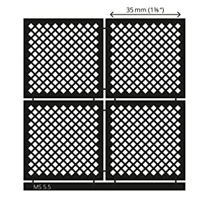 LUCY CLAY Microstencils Texture Sheets for Polymer Clay 3.12 x 3.12 5-pcs Set (Microstencils Set 5) (Color: Microstencils SET 5)
