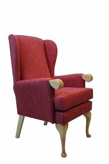 New–Canterbury ortopedico poltrona 53,3cm 48,3cm o Petite 43,2cm altezza seduta imbottita in tessuto impermeabile lampone (altezza 48,3cm)