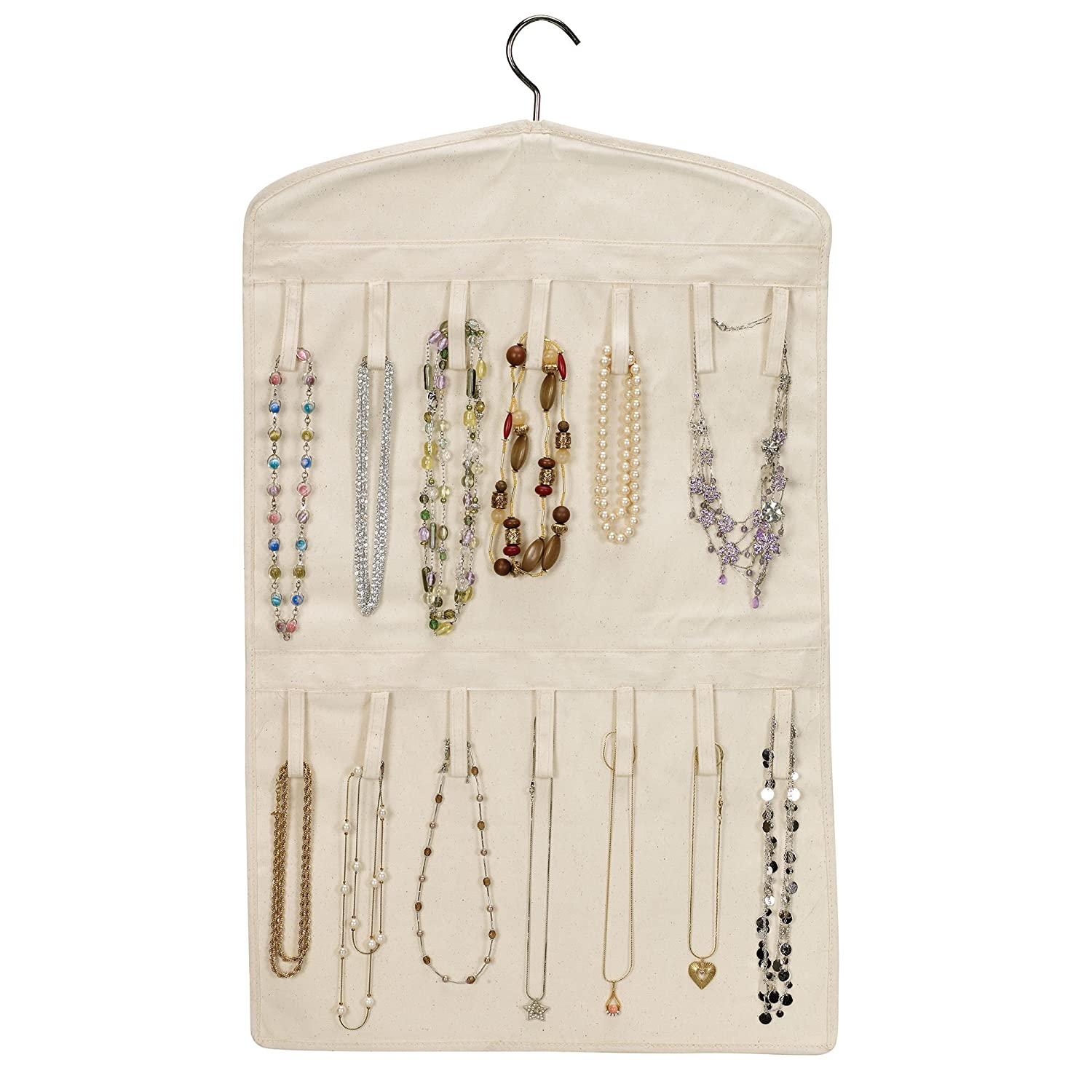 Household Essentials Bracelet And Necklace Hanging Jewelry Organizer Natural Ca Ebay