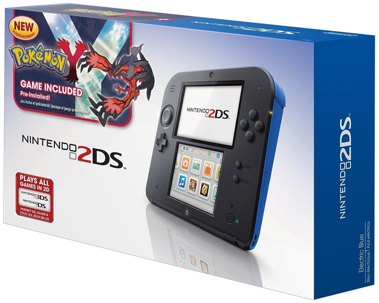 Nintendo Nintendo, Nintendo 2DS sistema de juegos portátil con Pokemon Y (azul) en Veo y Compro