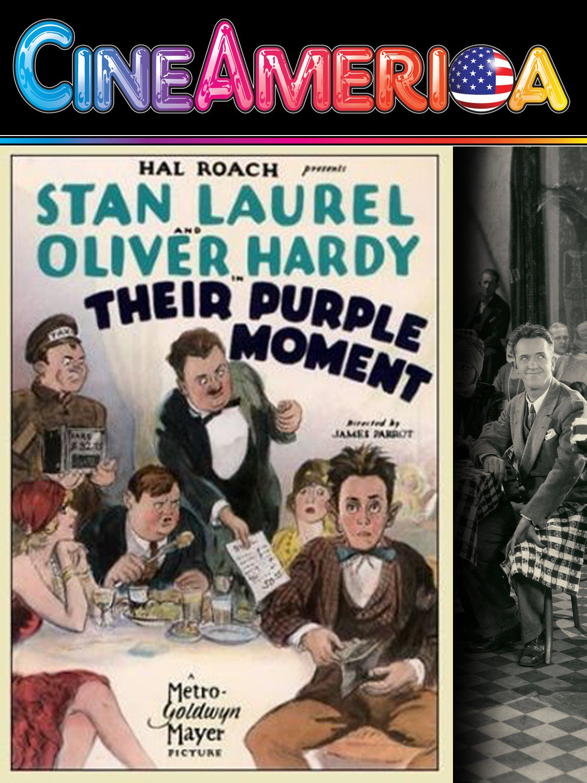 "Laurel and Hardy ""Their Purple Moment"""
