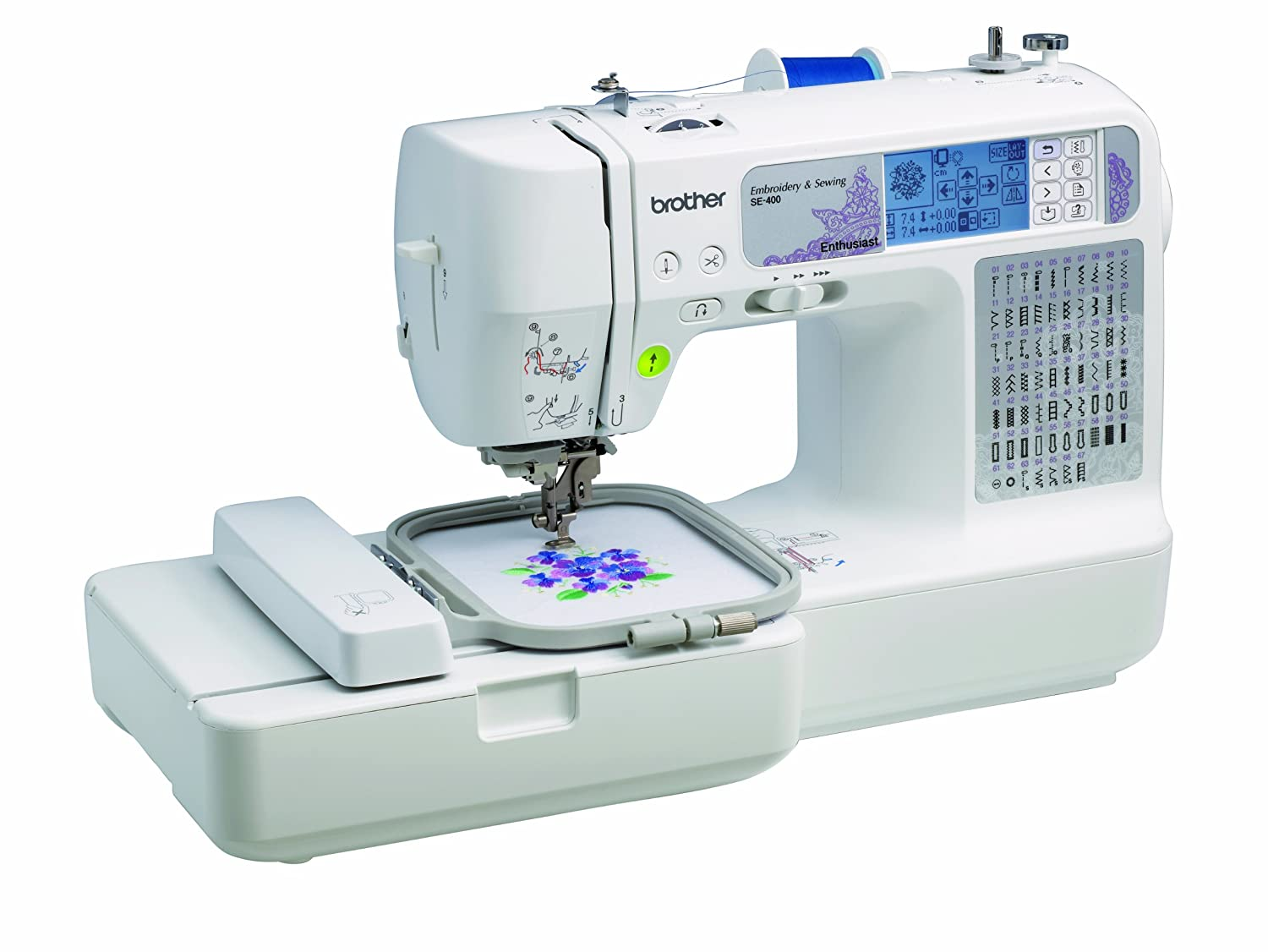 Brother SE400 Combination Computerized Sewing and 4x4 Embroidery Machine