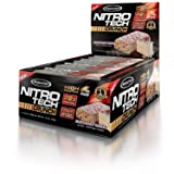 MuscleTech NitroTech Crunch Protein Bar,Birthday Cake, 22 Grams Protein, 5 Grams of Fiber, 240 Calories, Low Carb, Gluten Free, 65g Bars, 12 Count (Tamaño: 12 Count)