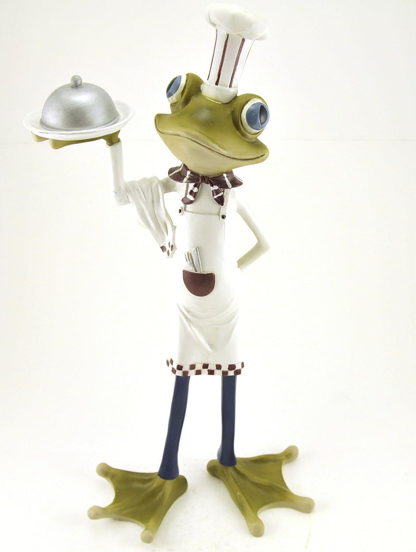 Nice Chef Frog Serving Dinner, Kitchen Decor, 17 Inch