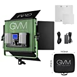 GVM Led Video Lights Panel with Memory Function Bi-color Photography Video Lighting kit CRI97+ TLCI97+ 22000lux for Studio YouTube Outdoor Durable metal housing Unique Cooling System