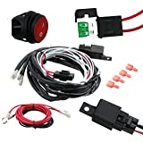 EPAuto LED Light Bar Wiring Harness Kit, 12V 40A Relay/Fuse/ON-Off Switch