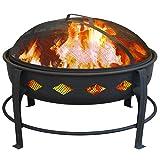 Landmann USA 21860 Bromley Fire Pit, Black (Color: Black)