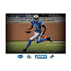 NFL Detroit Lions Calvin Johnson In Your Face Mural Wall Graphic