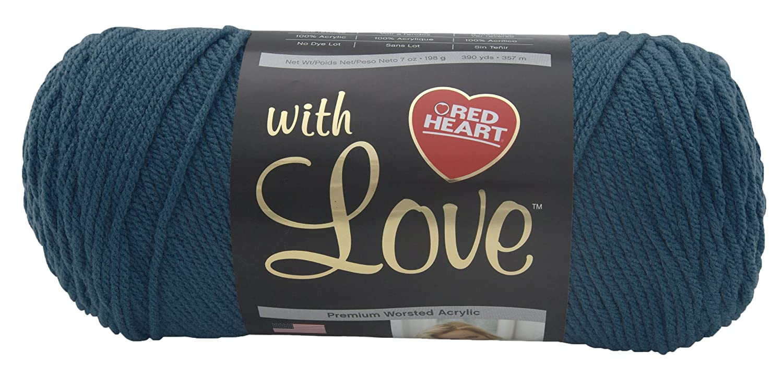 Red Heart with Love E400.1623 Yarn, Mallard