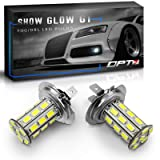 OPT7 Show Glow G1 H7 LED Fog Light Bulbs - 6000K Cool White - All Bulb Sizes and Colors - 225 LMS per Bulb - 27-SMD - Plug-n-Play (Pack of 2) (Color: 6000K Cool White, Tamaño: H7)