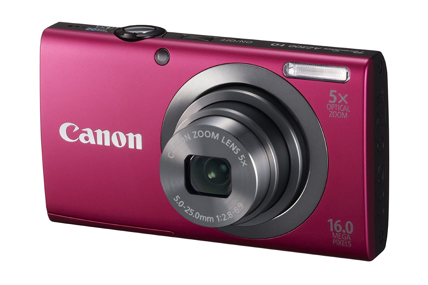 Canon PowerShot A2300 16.0 MP Digital Camera with 5x Digital Image Stabilized Zoom 28mm Wide-Angle Lens with 720p HD Video Recording ($59.00)