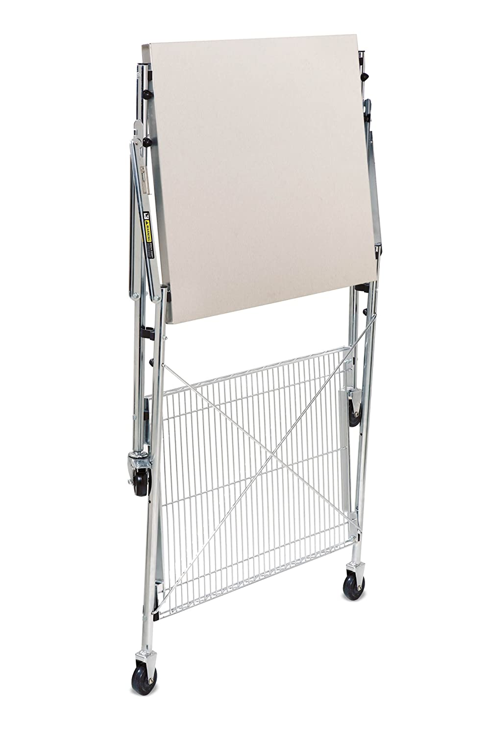 STAINLESS STEEL FOLDING KITCHEN WORK UTILITY CART TABLE ON WHEELS STORAGE EBay