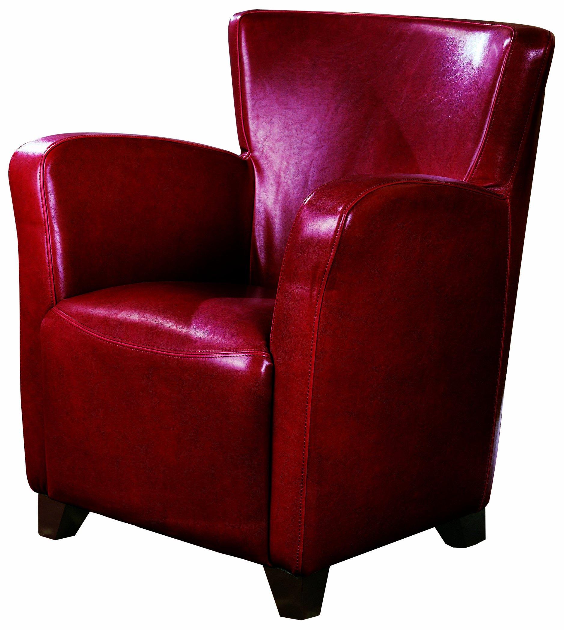Coaster Accent Chair Red Burgundy Polyurethane FurnitureNdecor