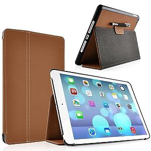 JAMMYLIZARD | Funda Ultra Fina HORIZON Color MARRÓN Smart Case Para la Nueva iPad Air (5ta Generación) con Tapa Función Dormir / Despertar  Electrónica revisión