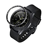 ANCOOL Compatible Samsung Galaxy Watch 42mm/Gear Sport Bezel Ring Adhesive Cover Anti Scratch Stainless Steel Protector Design for Galaxy Watch 42mm/Gear Sport -Black (Color: Q-06, Tamaño: 42mm)