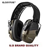 GLORYFIRE Electronic Shooting Earmuff Sound Amplification 6 Times Electric Earmuffs Perfect for Hunting and Shooting (Color: olive green)