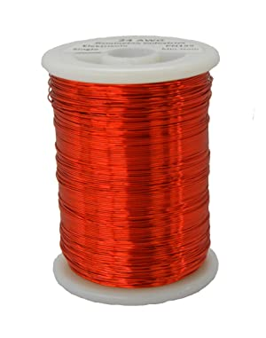 Remington Industries 23SNSP 23 AWG Magnet Wire, Enameled Copper Wire, 1.0 lb, 0.0236 Diameter, 634' Length, Red (Color: Red)