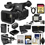 Panasonic HC-X1 4K Ultra HD Video Camera Camcorder with 128GB Card + Battery & Charger + Microphone + LED Light + Case + Kit