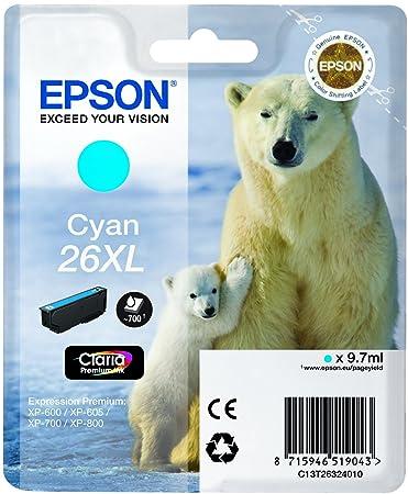 Epson C13T26324010 Cartouche d'encre Bleu
