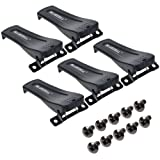 BCP 5pcs Black Color Belt Clip for Baofeng Two-Way Radio BF-666S/ BF-777S/ BF-888S, Screws are Included