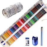 Colored Pencils for Adult Coloring Books, Premium Artist Colored Pencil Set (72-Count), Handmade Canvas Pencil Wrap, Extra Accessories Included, Holiday Gift, Oil Based Colored Pencils (Color: 72 colors with Canvas Pencil Wrap (Constellation))