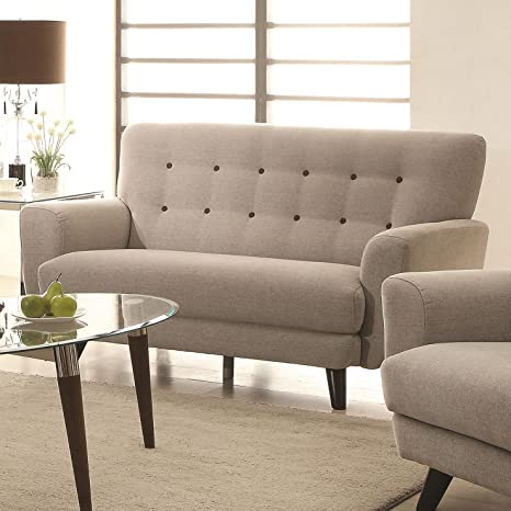 Maguire Collection Tufted Loveseat