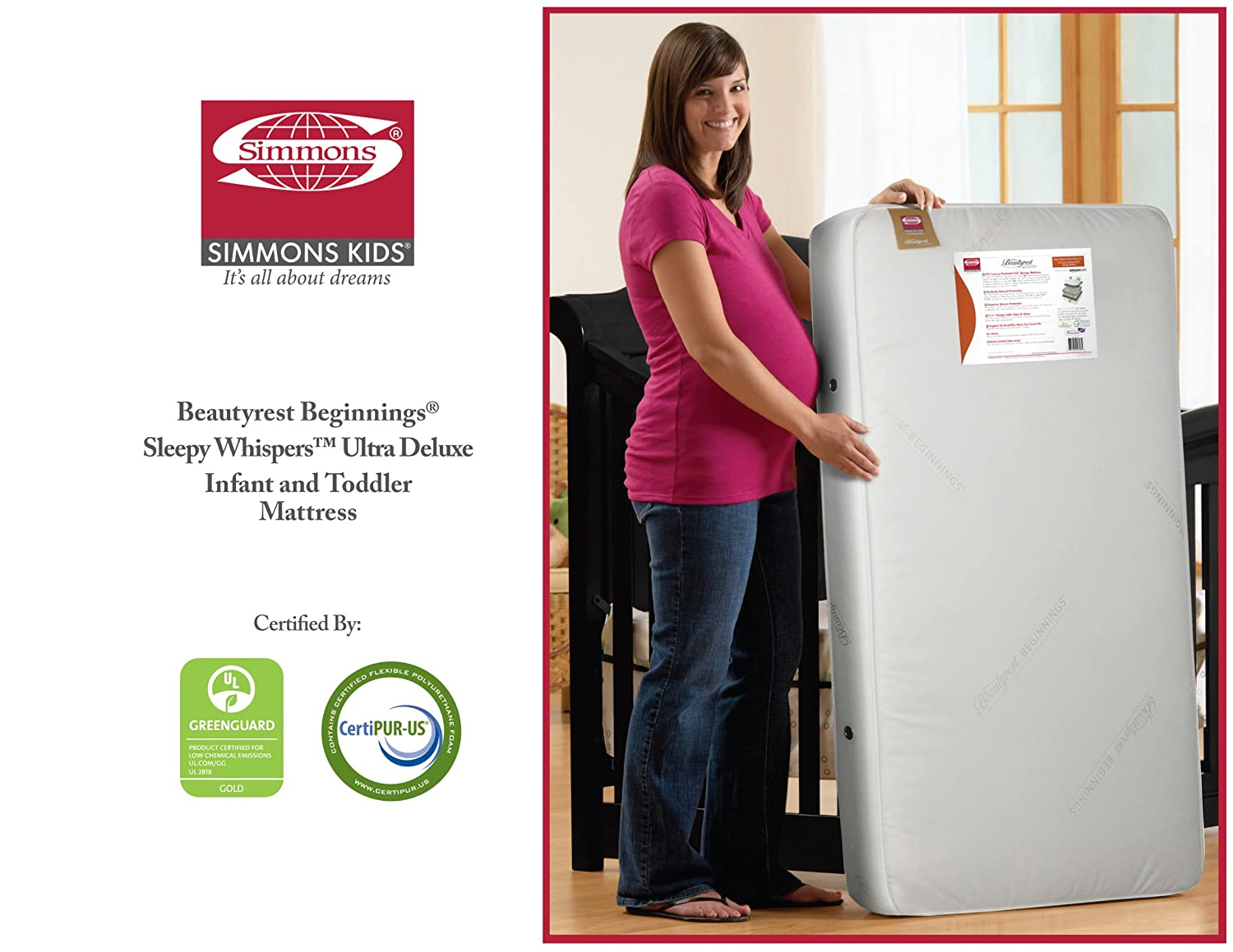 Ultra Deluxe 2 N 1 Crib And Toddler Mattress Neutral From