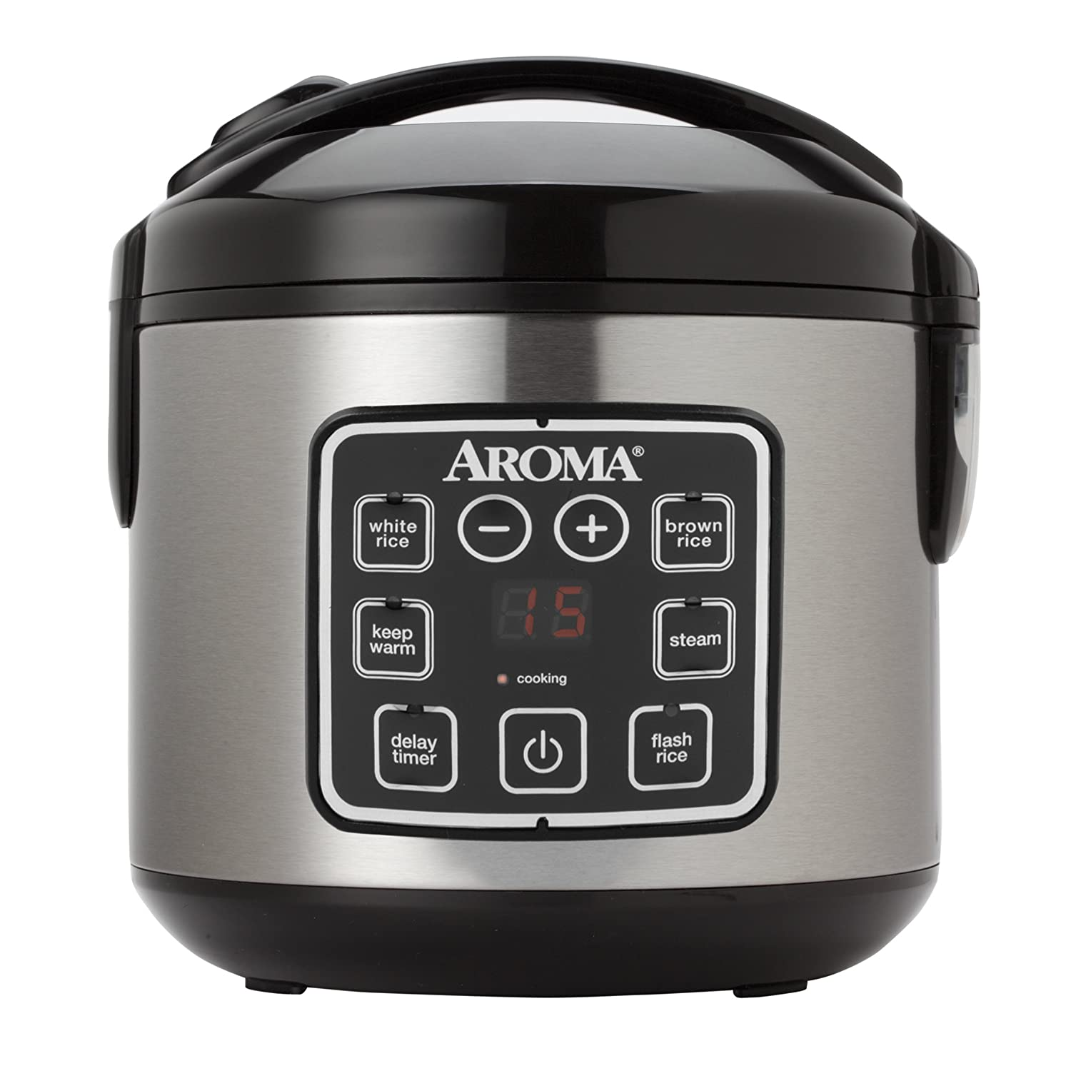 The Aroma Housewares Stainless steel Digital cool-touch Rice cooker and food steamer