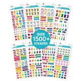 Paper House Productions SET0008 Functional Icons Planner Sticker Bundle includes 32 Sheets 8 Themes, Over 1500 Stickers