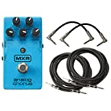 MXR M234 Analog Chorus Pedal with 4 Free Cables! (Color: Blue)