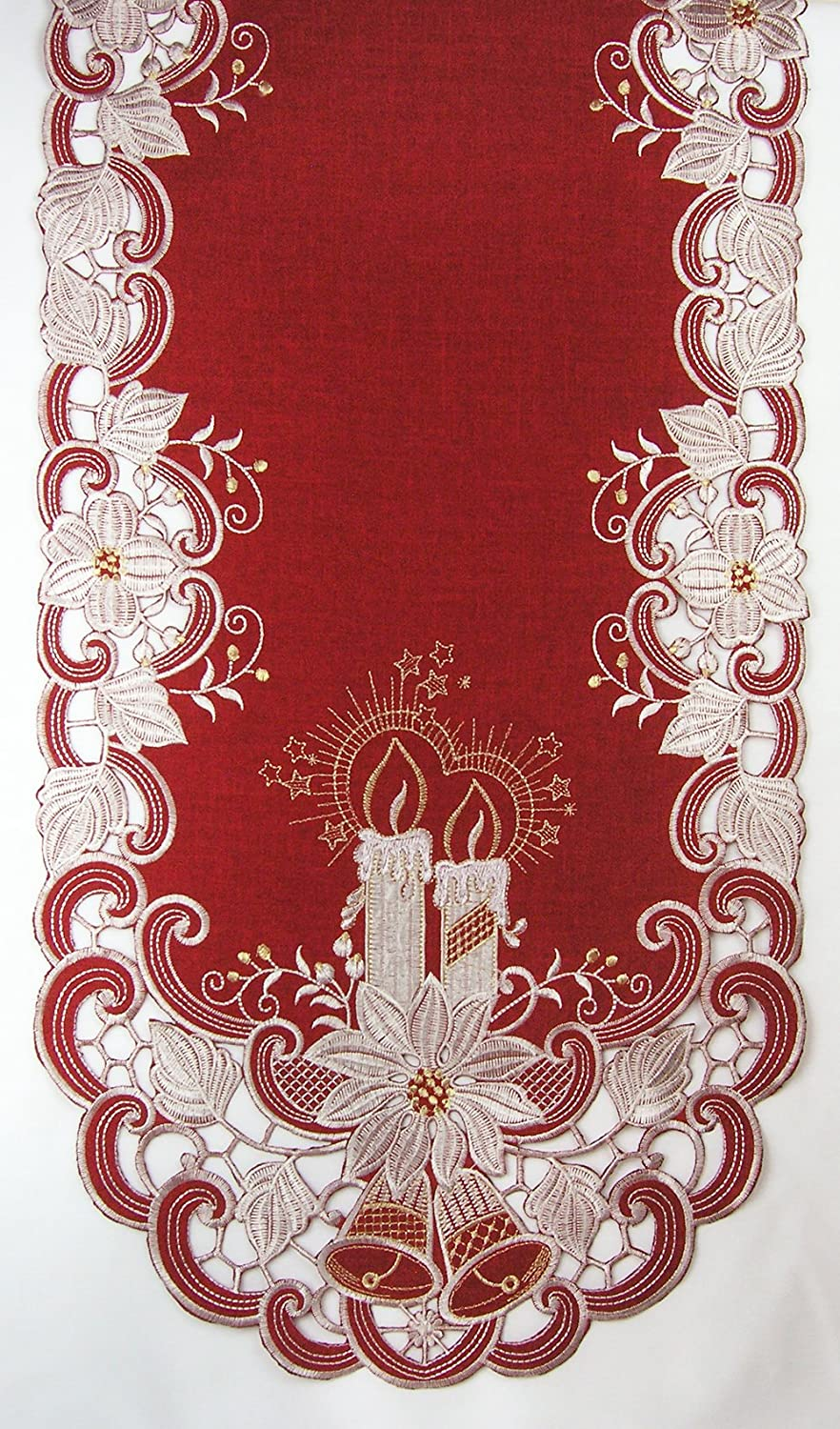 Poinsettia Table Runners | Christmas Wikii