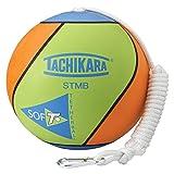 Tachikara STMB Tetherball, Lime Green/Blue/Orange