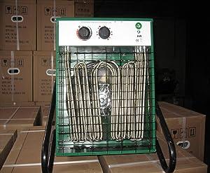 Heizlüfter 9000 Watt Bauheizer Heizgerät Bautrockner Elektroheizer Bauheizung .  BaumarktKritiken und weitere Infos