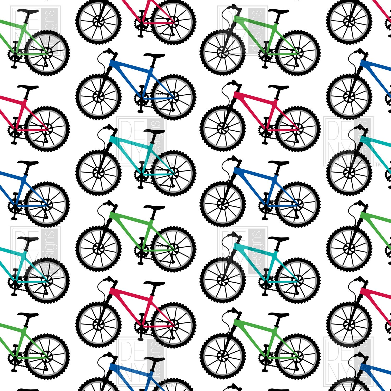 Andi Bird bicycle duvet cover for teen bedroom