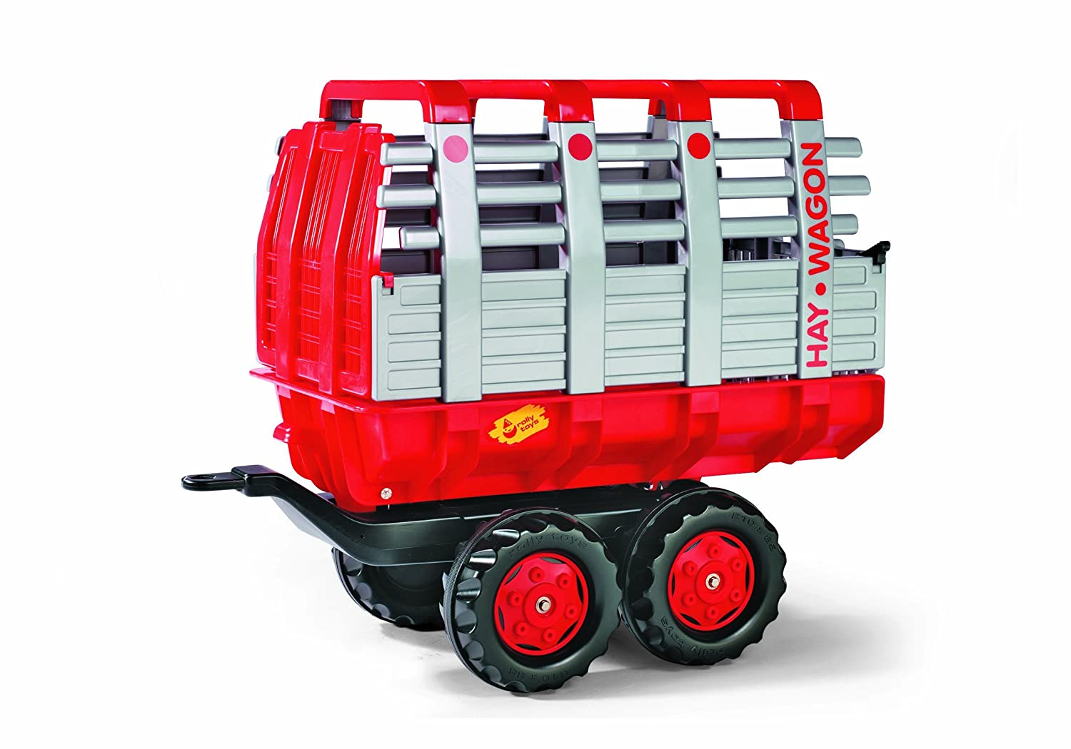 Rolly Hay Wagon, Red/Silver