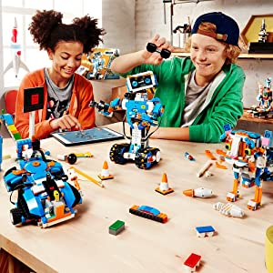 LEGO Boost Creative Toolbox 17101 Fun Robot Building Set and Educational Coding Kit for Kids, Award-Winning STEM Learning Toy (847 Pieces) (Color: Multi Color)