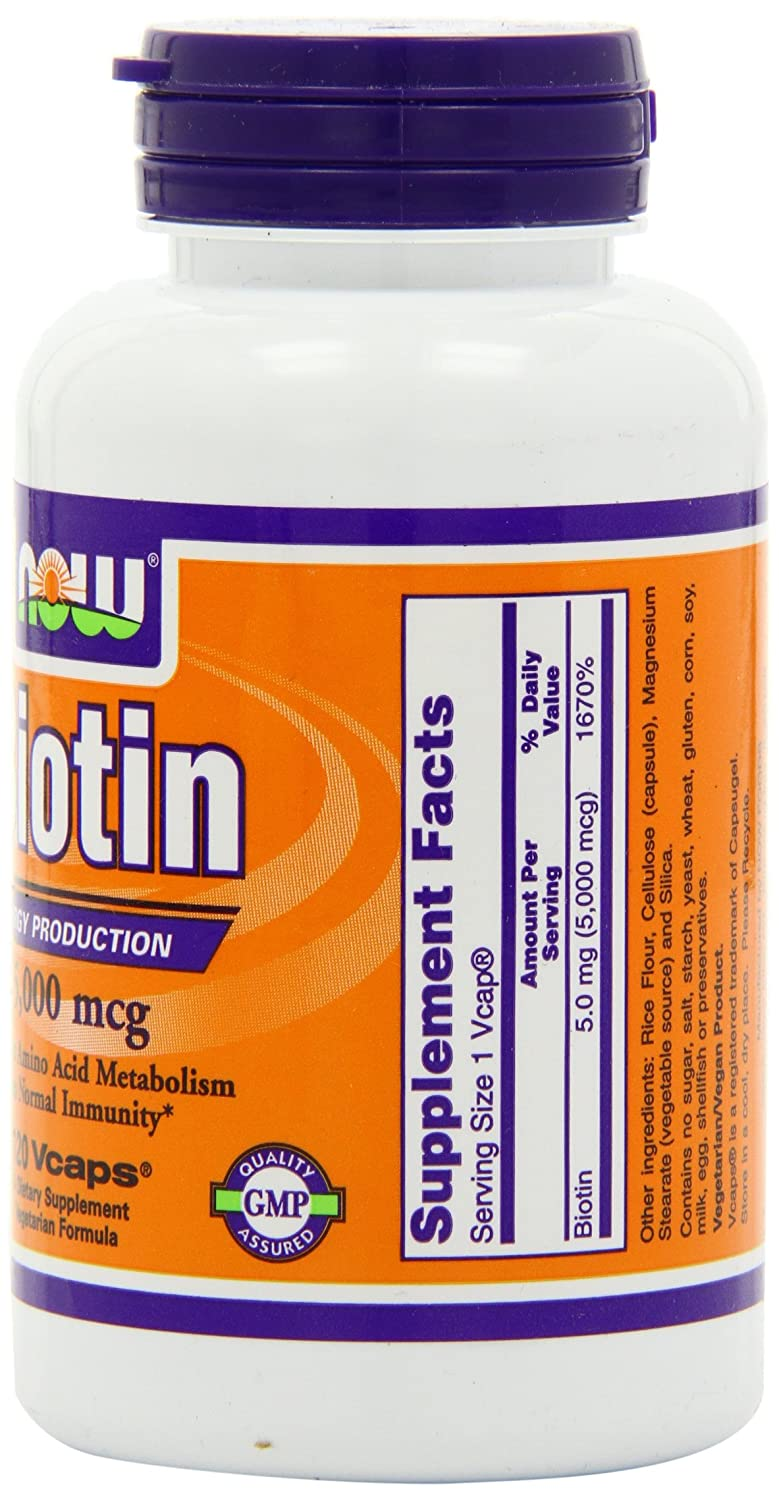 Bottle of Biotin Supplements on Amazon