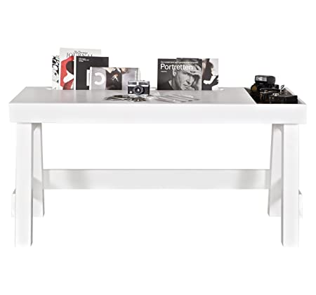Alfred & Company Computer Desk Solid Pine 1Door 1Housing White