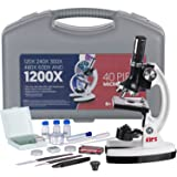 AMSCOPE-KIDS M30-ABS-KT1-W-I 120X-240X-300X-480X-600X-1200X 48pc Metal Arm & Base Educational Kids Biological Microscope Kit