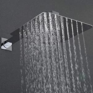 Esnbia Shower System, Brushed Nickel Shower Faucet Set with 10 Rain Shower Head Systems Wall Mounted Shower Combo Set for Bathroom(Valve Not Include) (Color: Brushed Nickel, Tamaño: 10 Inch)