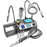 WEP 927-IV-ST-MHH 60 Watt Soldering Iron Station - Double Digital LED Display, Sleep Function, C/F, 5 Extra Tips, Mini Mag Lamp, 2 Helping Hands, Solder Roll Holder, Brass Sponge w/Flux & Wet Sponge