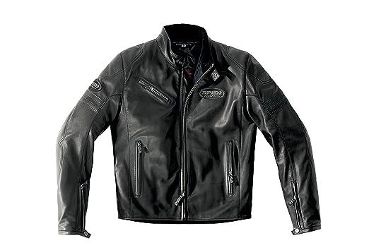 Spidi p 131-026 cuir veste de moto ace noir
