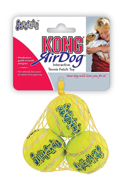 KONG Squeaker Tennis Balls Dog Toy, 3-Pack
