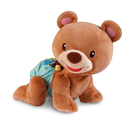 Vtech Baby – Crawl Along Bear – Ourson 1, 2, 3 Suis-Moi Version Anglaise