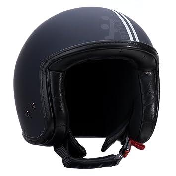 A-style 0500005S casque jet noir/argenté/mat