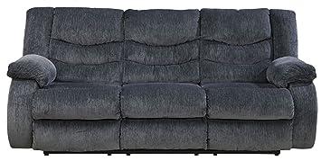 Garek Blue D Reclining Sofa