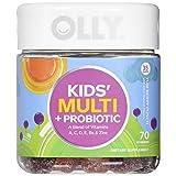 OLLY Kids Multivitamin & Probiotic Gummy Supplement with Zinc & PROBIOTICS, Yum Berry Punch, 70 Gummies (35 Day Supply)