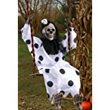 Swinging Dead Clown Hanging Prop (Color: White, Tamaño: One Size)